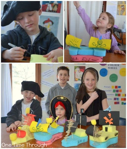 Different Sponge Pirate Ships