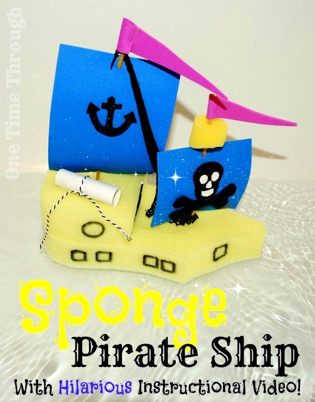 Sponge Pirate Ship Kids' Craft