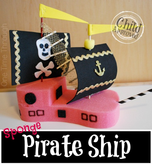 Sponge Pirate Ship Kids' Craft