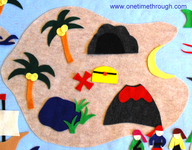 Pirate Island felt board