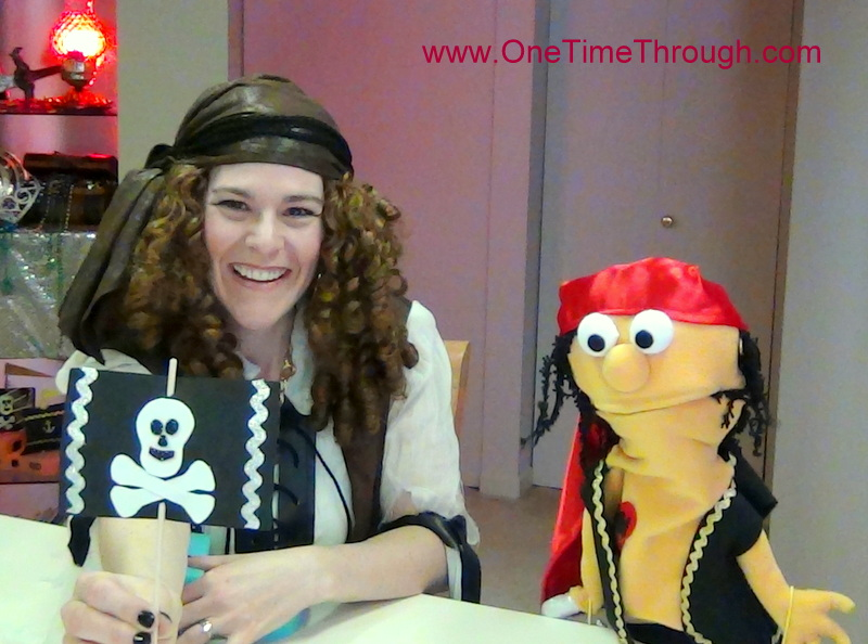 Threading the Sail on Sponge Pirate Ship