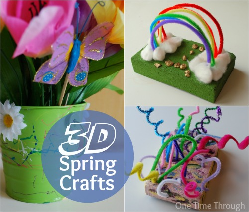 3D Spring Crafts for Kids