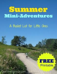 Summer Mini-Adventures Bucket List Printable