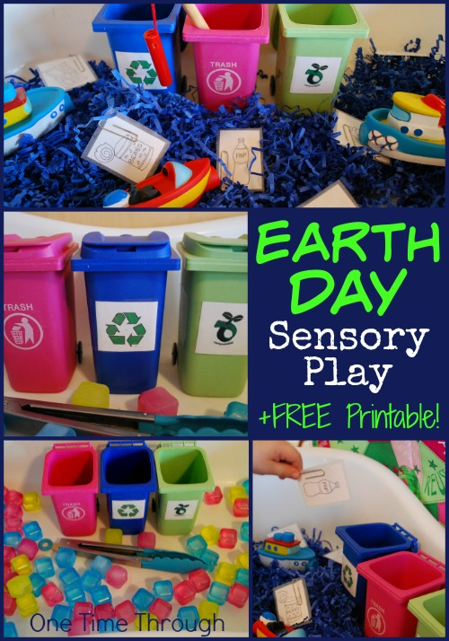 Earth Day Sensory Bins
