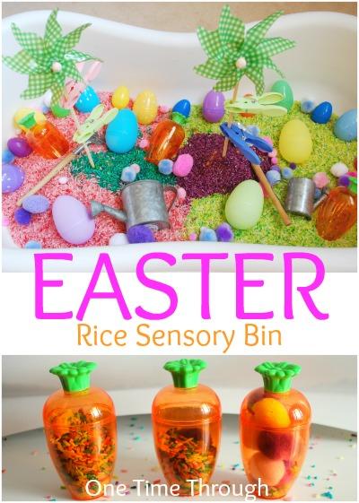 Easter Rice Sensory Bin