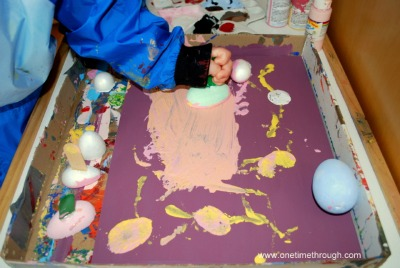 Painting a Car with Eggs