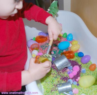 Playing in Easter Bin