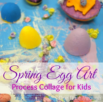 Spring Egg Art Process Collage
