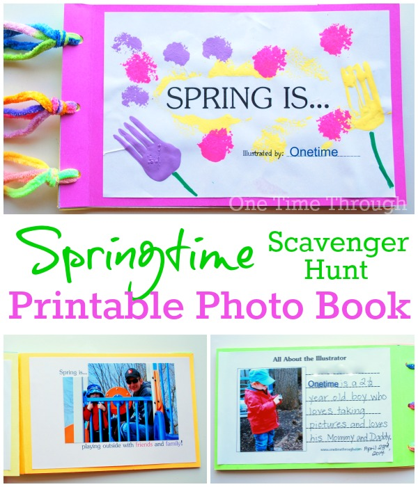 Spring Is Photo Scavenger Hunt Book