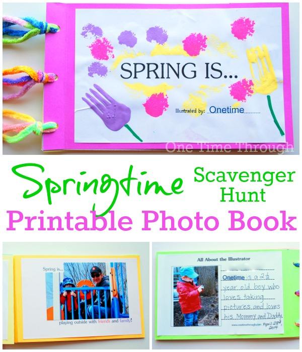 Spring Is Photo Scavenger Hunt Book