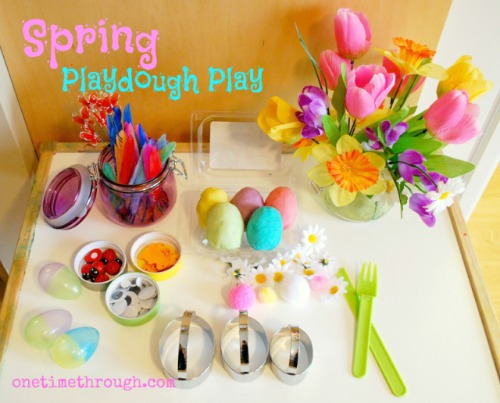 Spring Playdough Table
