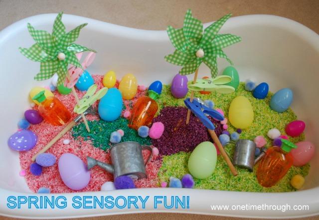 Spring Sensory Bin Fun