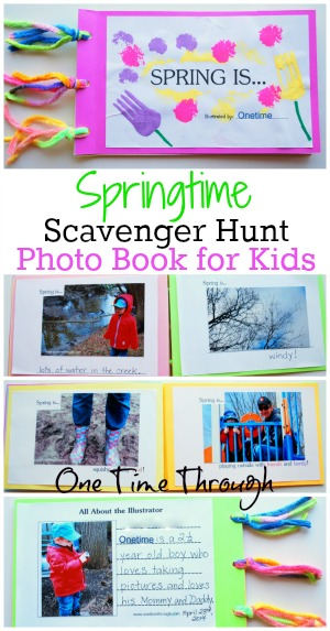 Springtime Scavenger Hunt Photo Book for Kids