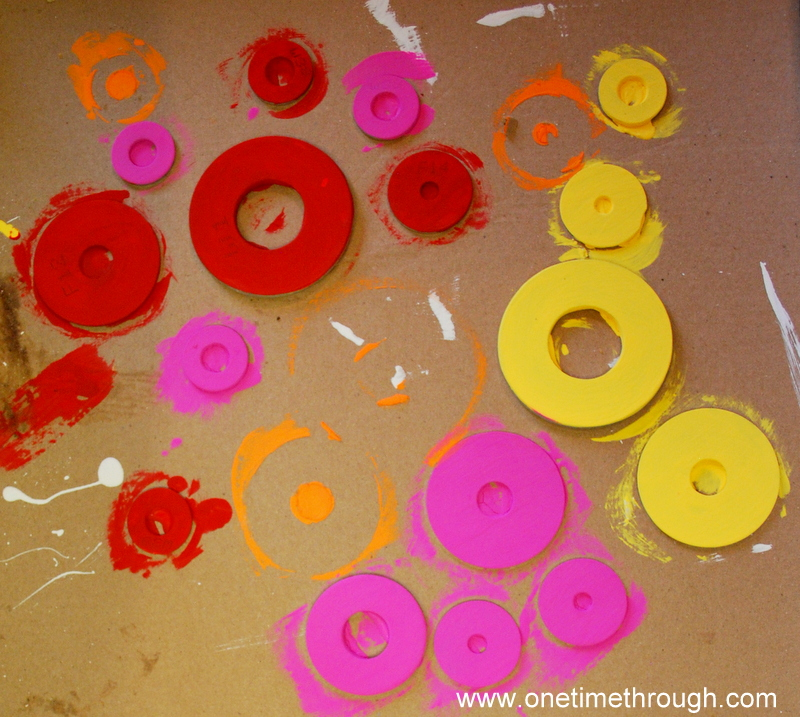 Painted Washers for Windchimes