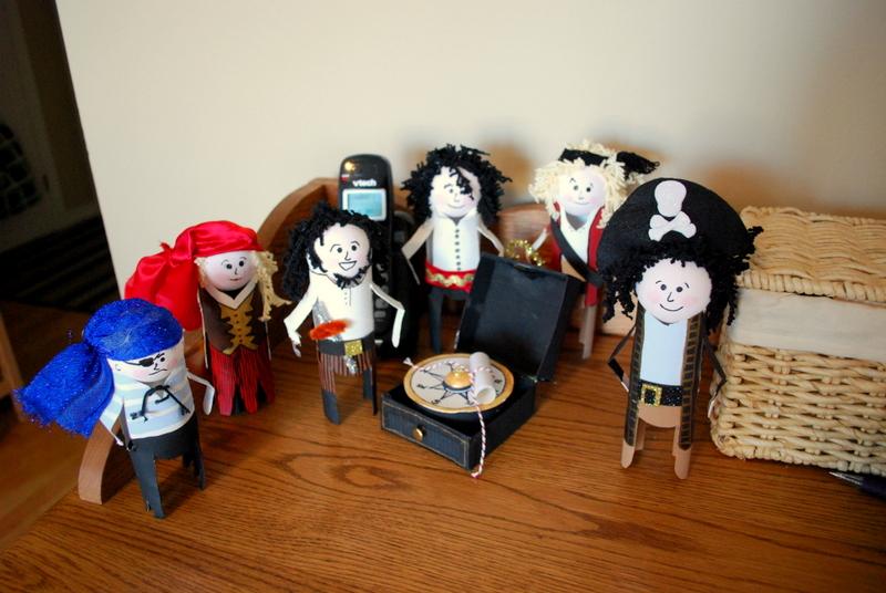 "Pirate dolls surrounding a clue on the ""Communications Bridge""!"
