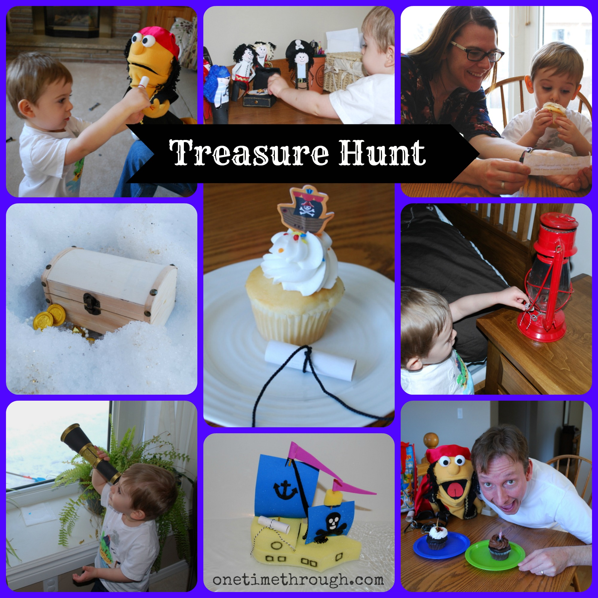 treasure hunt collage