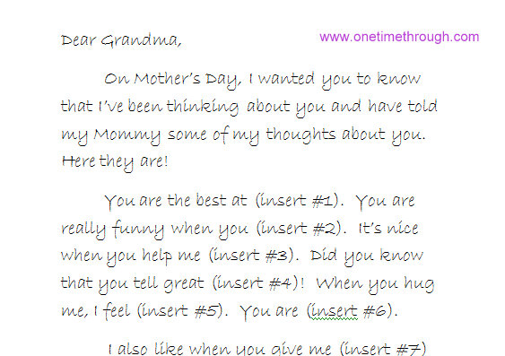 Help Your Preschooler Write a Love Letter to Grandma  One Time
