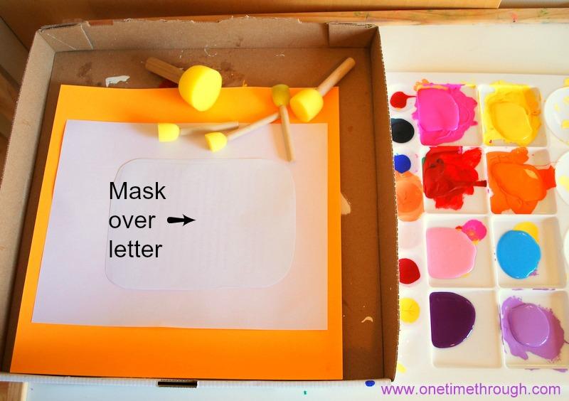 mask over letter