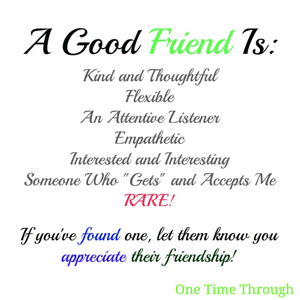 A Good Friend Is
