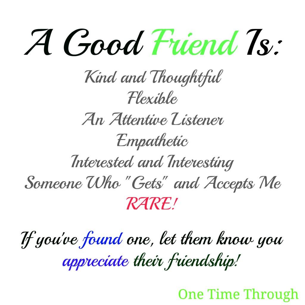 A Good Friend Is