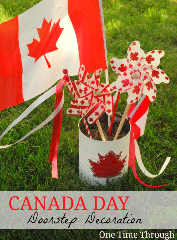 Canada Day Doorstep Decoration