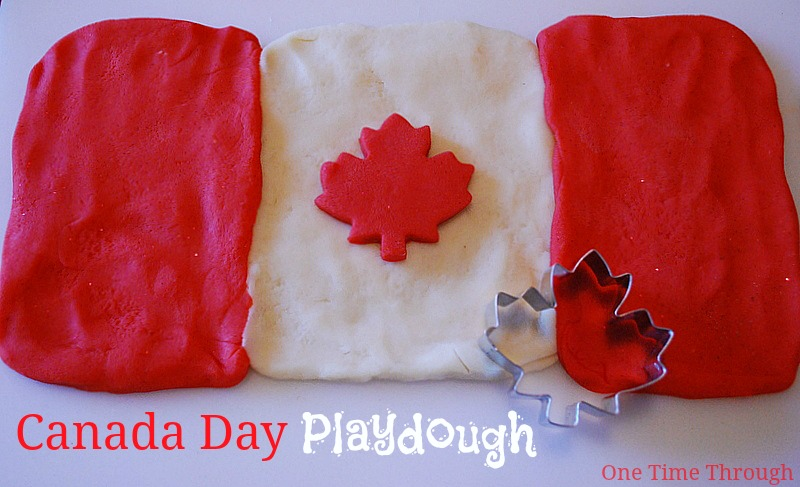 Canada Day Playdough