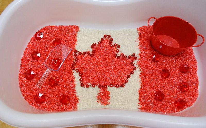 Celebrate Canada Day with Sensory Play