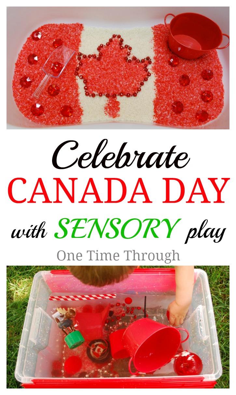 Celebrate Canada Day Sensory Bins
