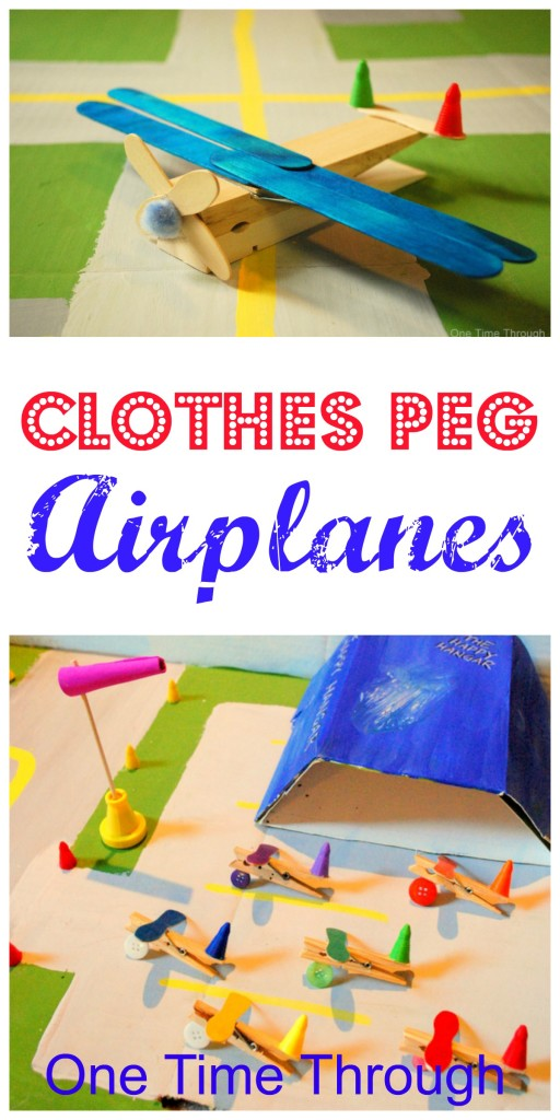 Clothes Peg Plane Craft