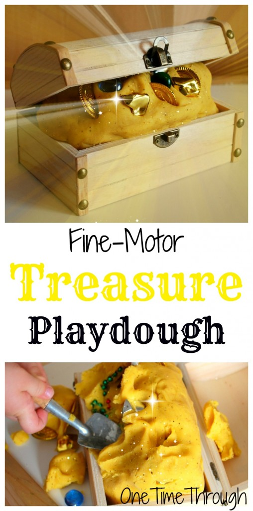 Fine Motor Treasure Playdough for kids