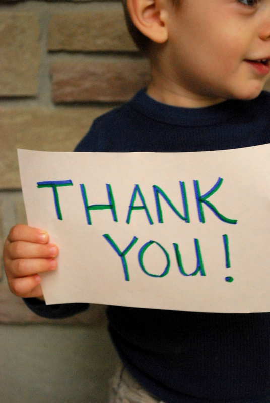 Teaching Kids to Say Thank You