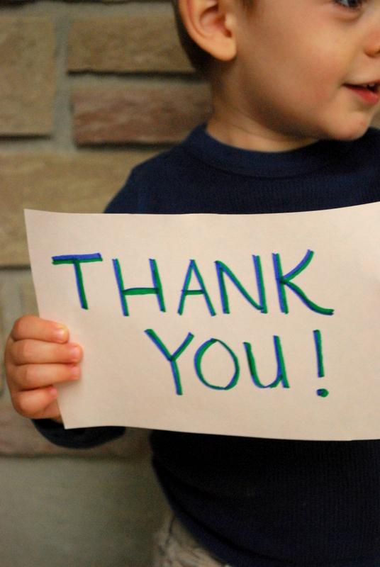Teaching Kids to Say Thank You