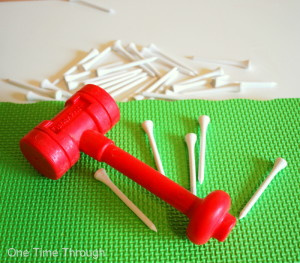 Supplies for Hammer & Learn Activity