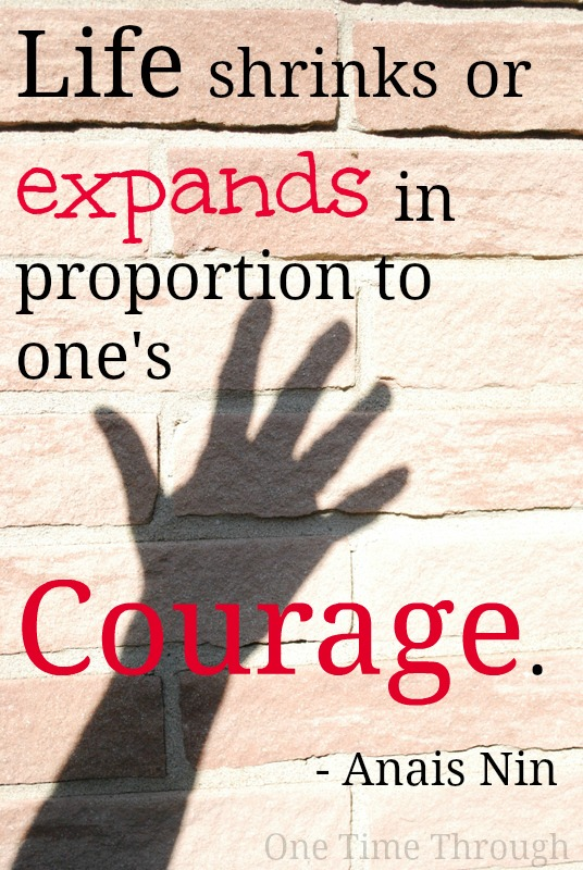 Courage Quote: living with peanut allergy