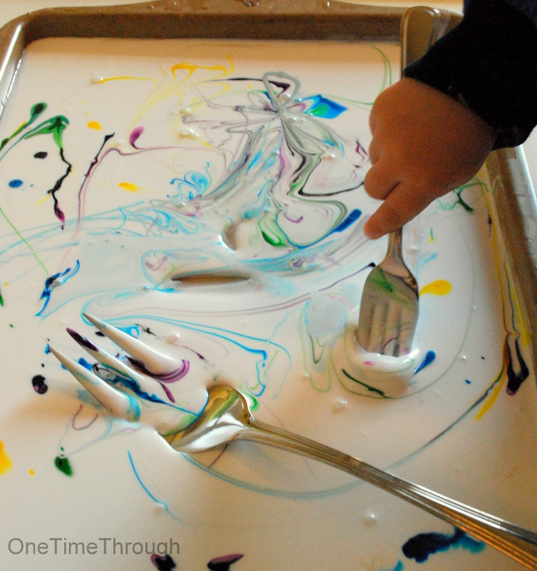 Coloured Glue Sensory Activity