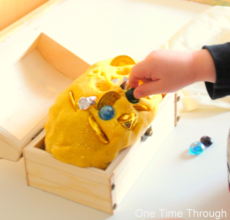 Creating Treasure Playdough
