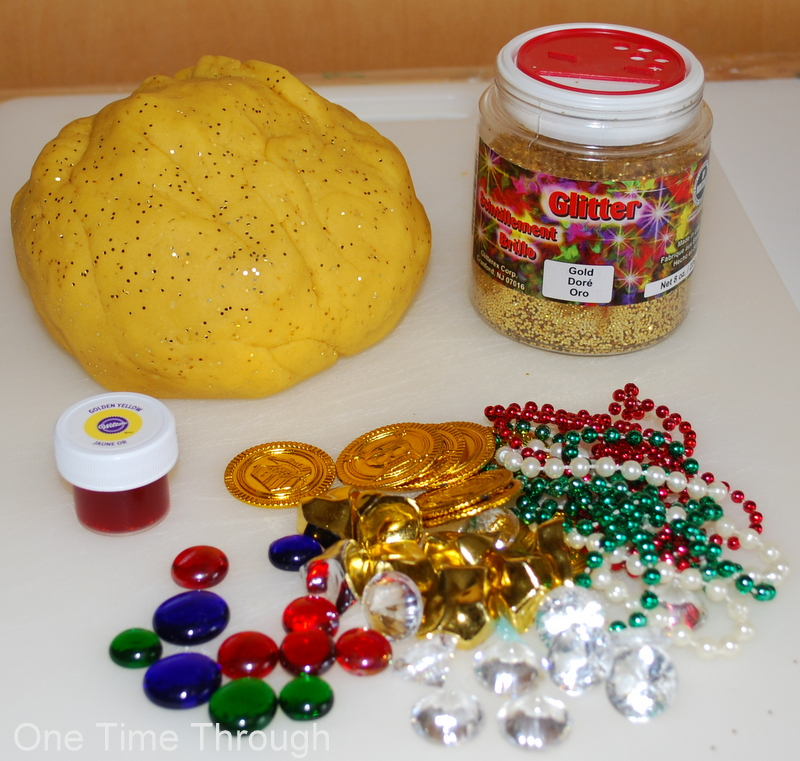 Treasure Playdough for Kids