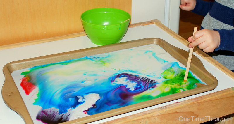 milk and detergent sensory activity for kids