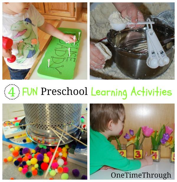 4 Fun Preschool Learning Activities