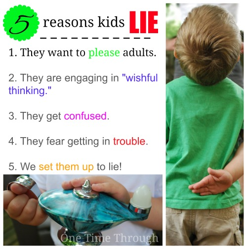 5 reasons why kids lie
