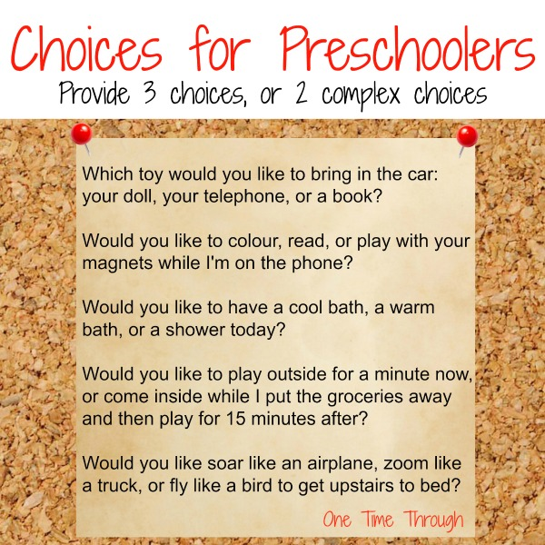 Choices for Preschoolers