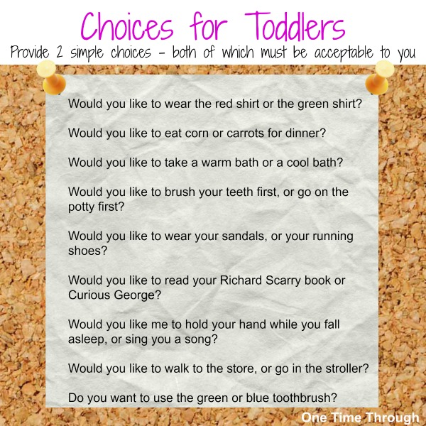 Choices for Toddlers