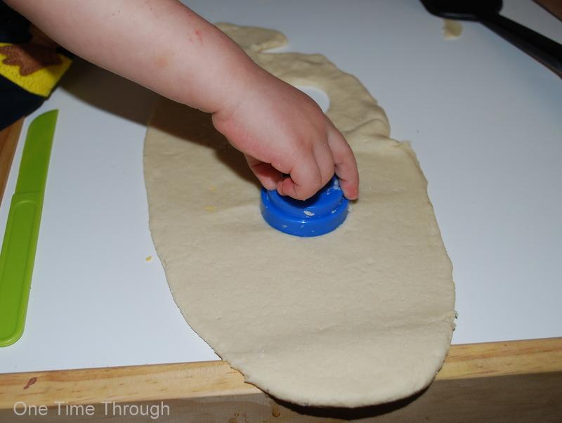 Cutting Salt Dough Pieces of Eight