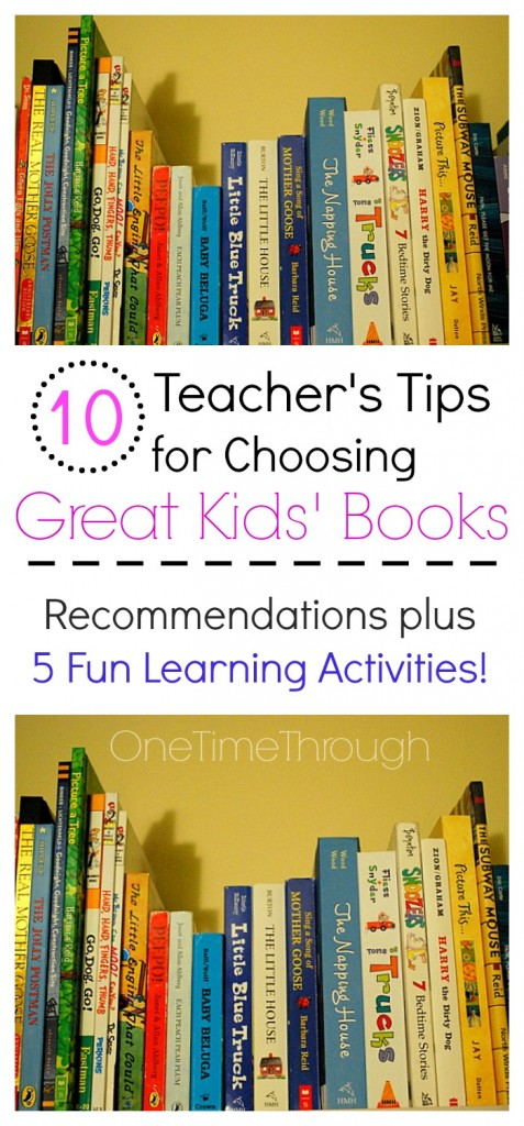 10 Teacher's Tips for Choosing Great Kids' Books