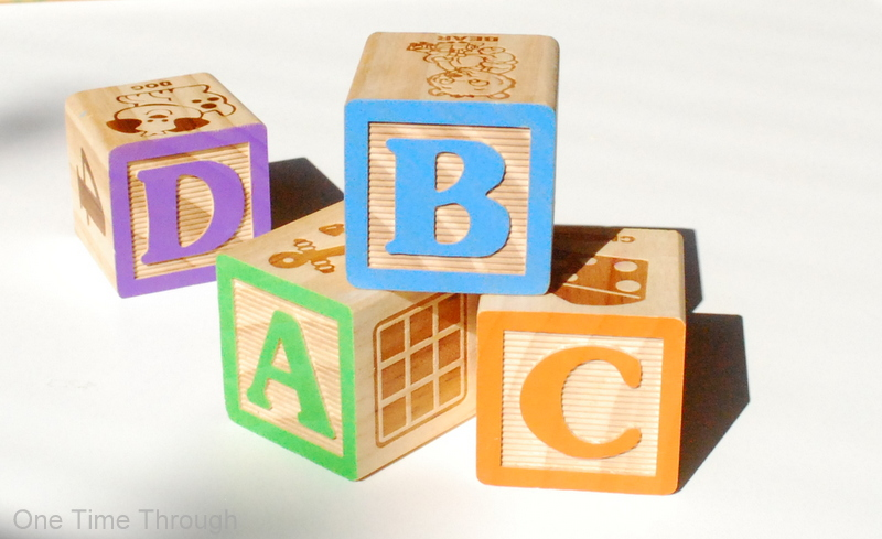 Alphabet Blocks Horizontal