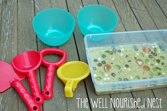 Mermaid Learning Sensory Bin