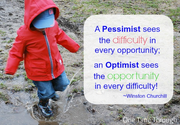 Winston Churchill Optimistic Quote