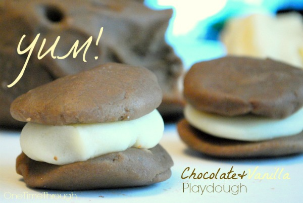 Yum! Chocolate and Vanilla Playdough