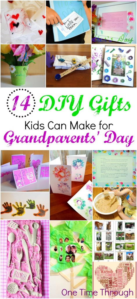 14 DIY GIFTS for Grandparents Day - One Time Through