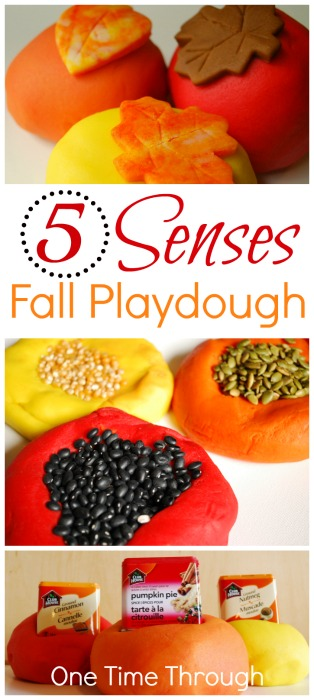 5 Senses Fall Playdough